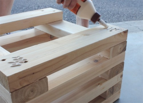 Diy Outdoor Cedar Bench With Planters