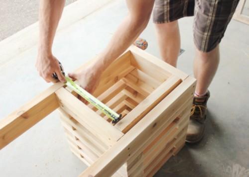 Diy Outdoor Cedar Bench With Planters