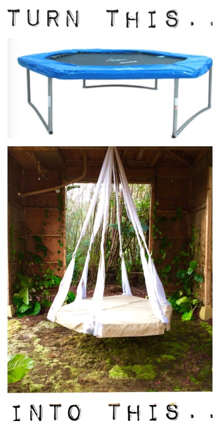 7 diy outdoor hanging beds to make yourself shelterness hanging bed trampoline via tinyhouseontheprairie solutioingenieria Images