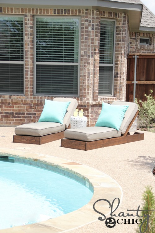 comfy outdoor loungers