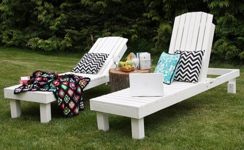 diy outdoor lounge chairs to enjoy the sunlight shelterness