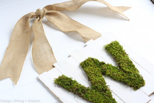 8 DIY Outdoor Moss Decorations