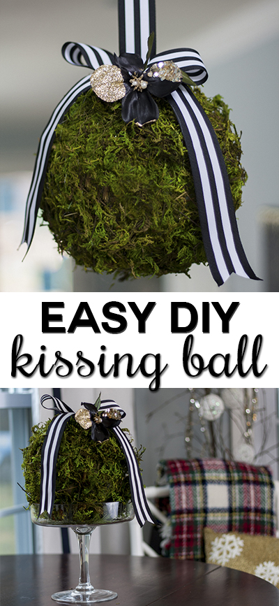 moss balls with ribbon (via viewalongtheway)