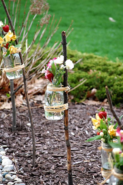 Diy Outdoor Vases For A Party