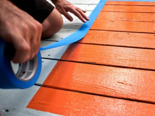 Diy Painted Deck Rug