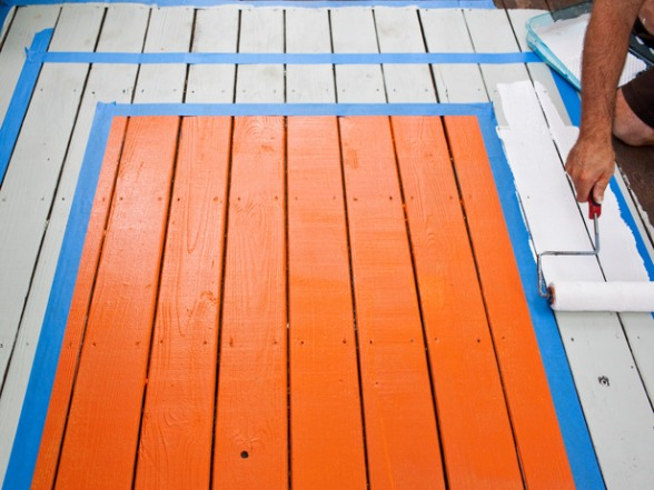 Diy Painted Deck Rug