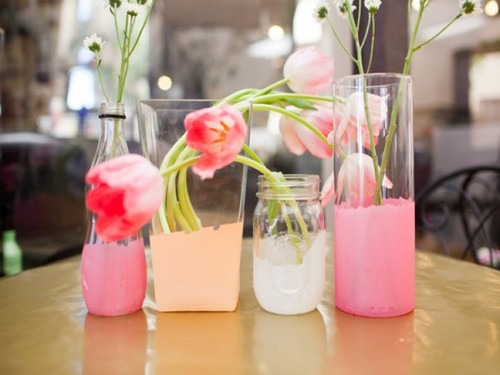 Diy Painted Glass Centerpieces