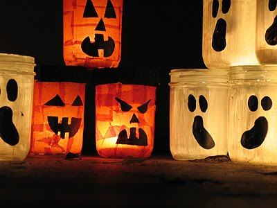 Diy Painted Jar Halloween Luminaries