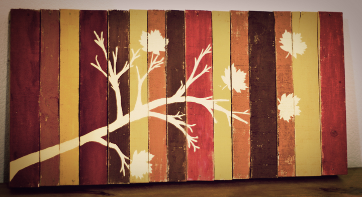 Picture of diy pallet art for Cool diy art projects