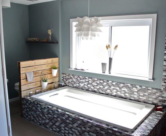Diy pallet bathroom storage cabinet and planter stand 1