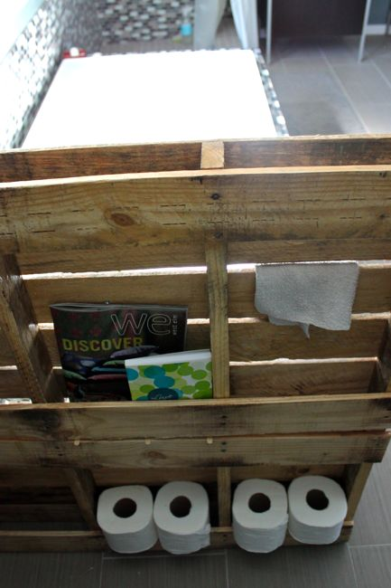 Diy Pallet Bathroom Storage Cabinet And Planter Stand