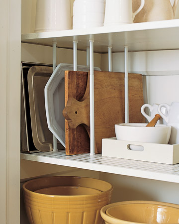 Great DIY Pantry Dividers To Store Cutting Boards