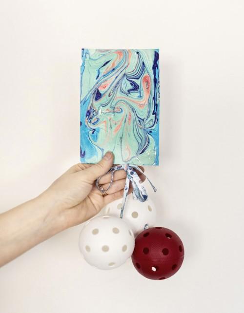 DIY Paper And Ribbon Marbling With Nail Polishes