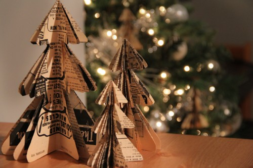 DIY Christmas Tree Paper Ornaments (via thesweetestoccasion)