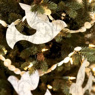 Handmade Paper Dove Ornaments
