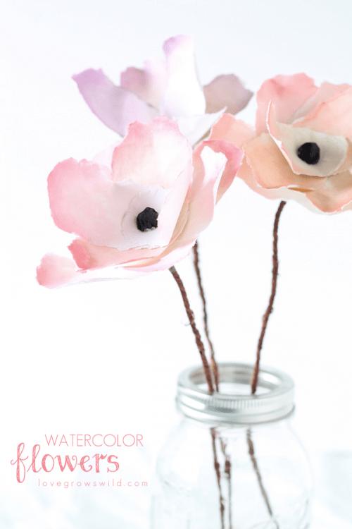 watercolor flowers (via lovegrowswild)