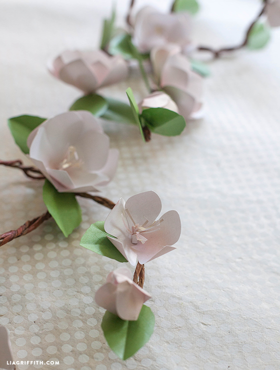 paper apple blossom branches
