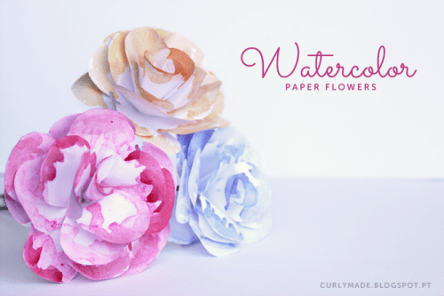 watercolor paper flowers (via curlymade)