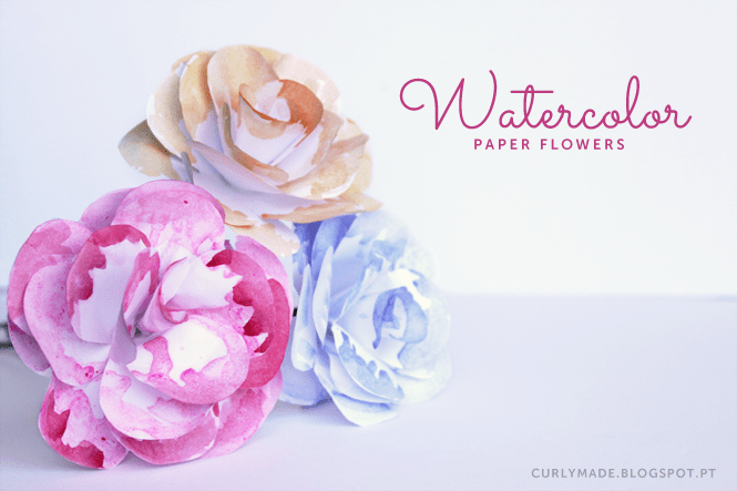 watercolor paper flowers