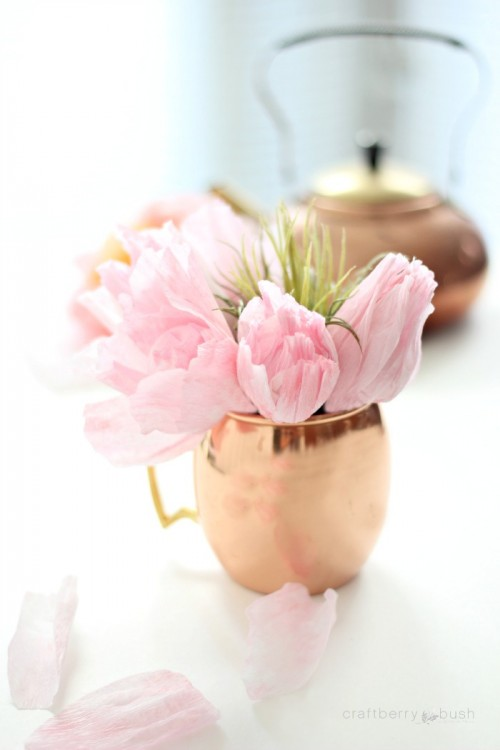 blush paper tulips (via craftberrybush)