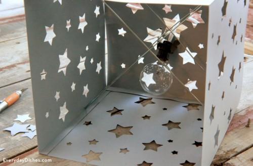 DIY Paper Lantern With A Star Pattern