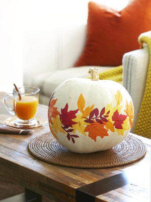 Diy Paper Leaves Pumpkin Decoupage