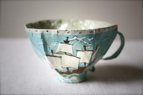 DIY Paper Mache Teacups