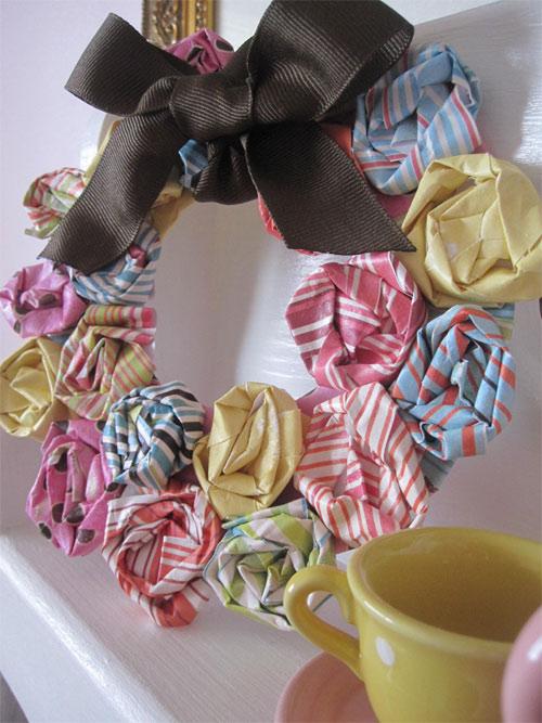 Diy Paper Rossete Spring Wreath