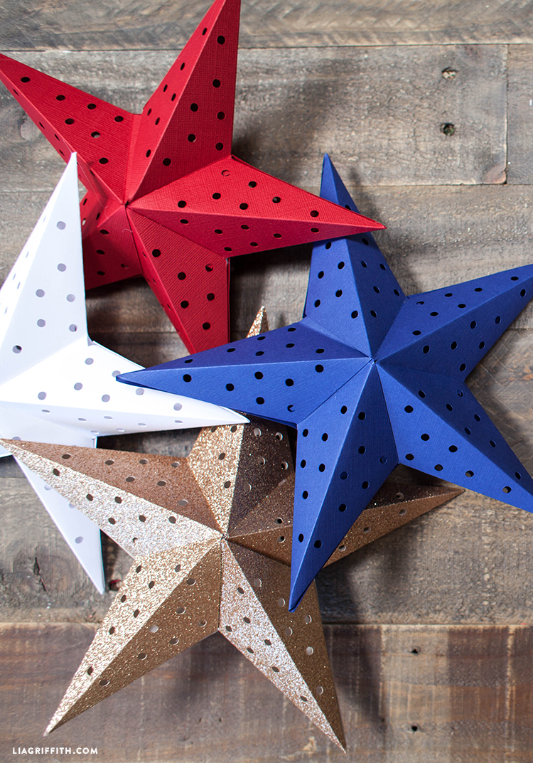 Picture Of diy paper star light garland for the 4th of july  2