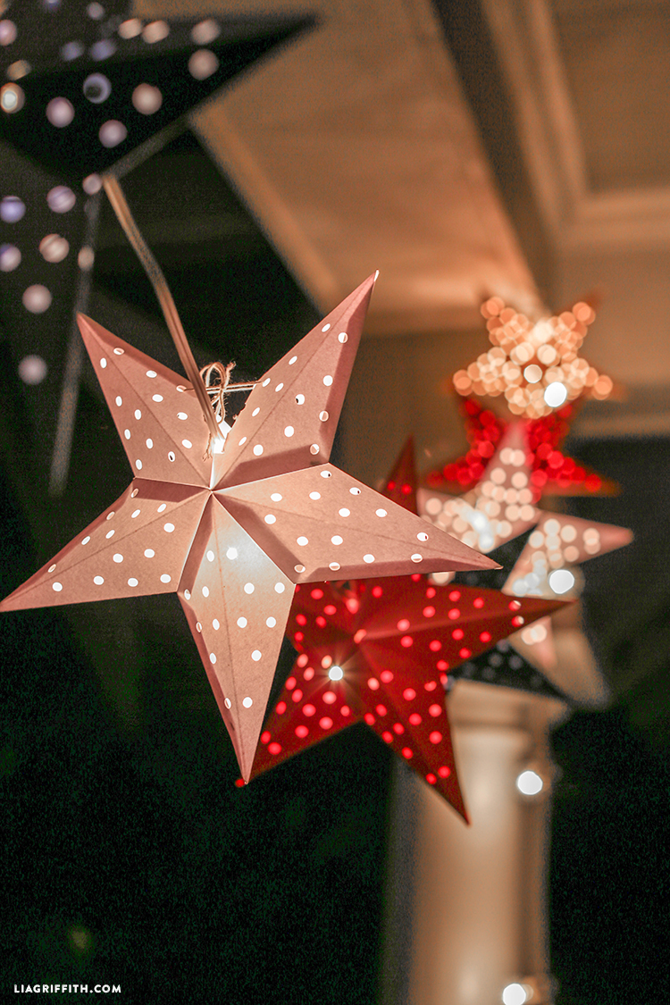 Picture Of diy paper star light garland for the 4th of july  4