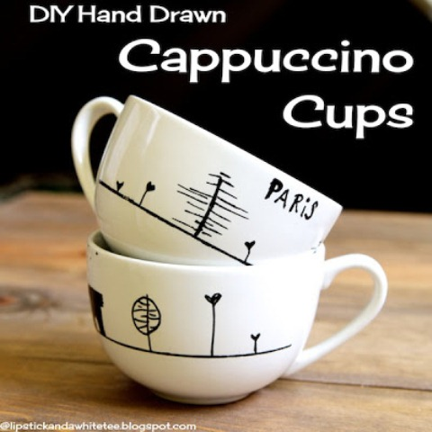 DIY Paris Cappuccino Cups