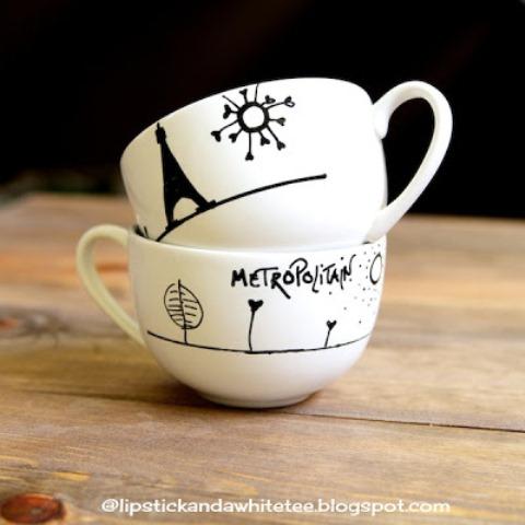 Diy Paris Cappuccino Cups