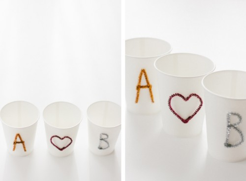 Diy Party Cups With Letters