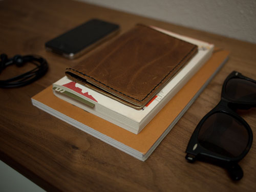 leather passport holder (via designsponge)