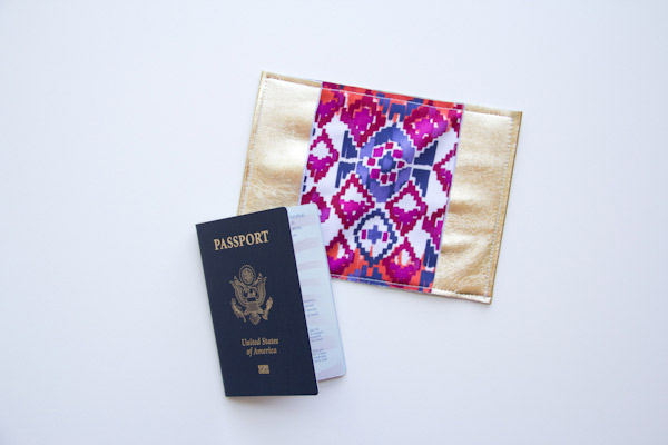 colorful leather passport holder