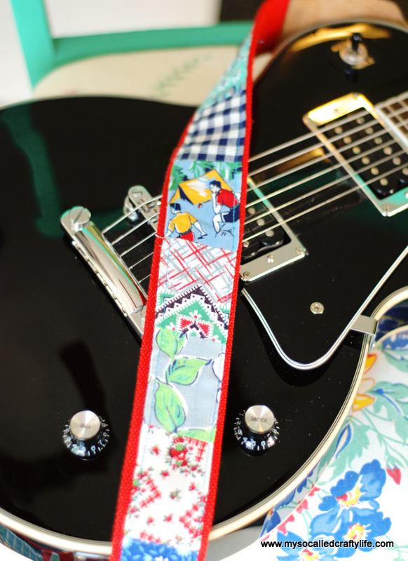 patchwork guitar strap