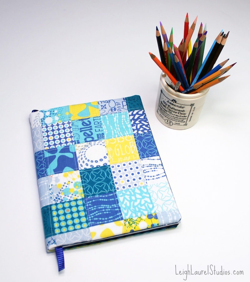 patchwork sketchbook cover