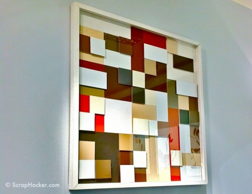 cardboard patchwork wall art (via scraphacker)