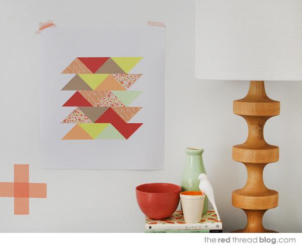 paper patchwork art