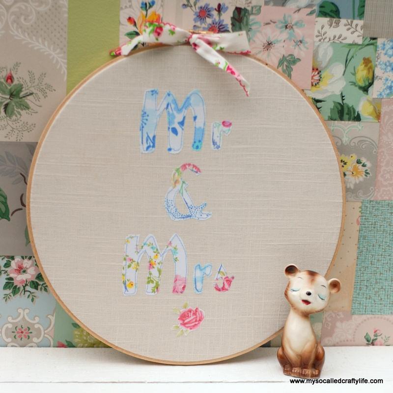 patchwork hoop art