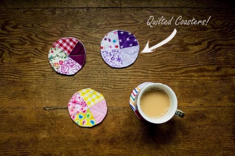 round patchwork coasters