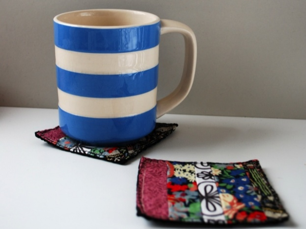 colorful patchwork coasters