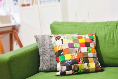 funny patchwork pillow case