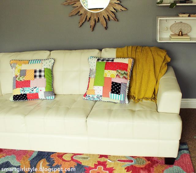 accent patchwork pillow