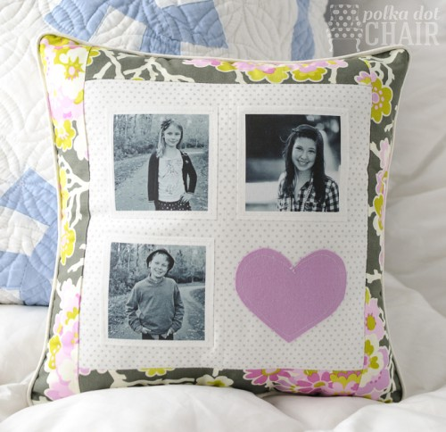 patchwork photo pillow (via polkadotchair)