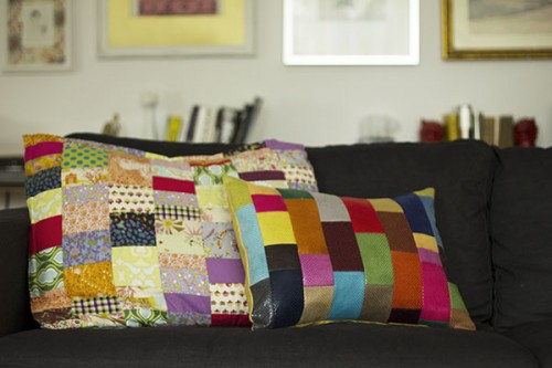 patchwork pillow cover (via happilyenough)