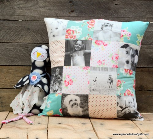 custom patchwork pillow (via mysocalledcraftylife)