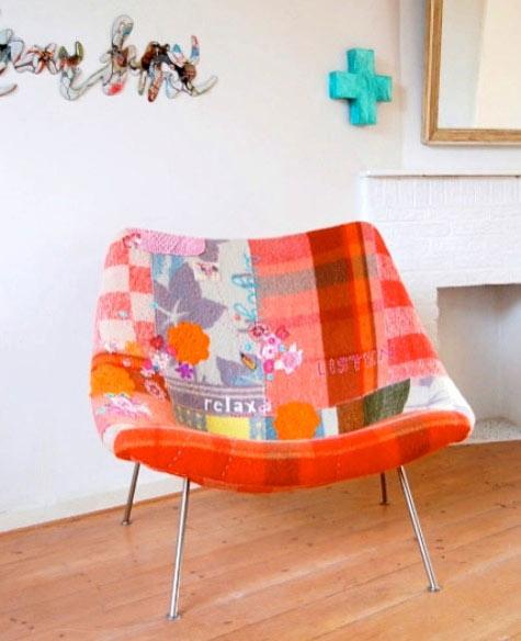 patchwork armchair (via designsponge)