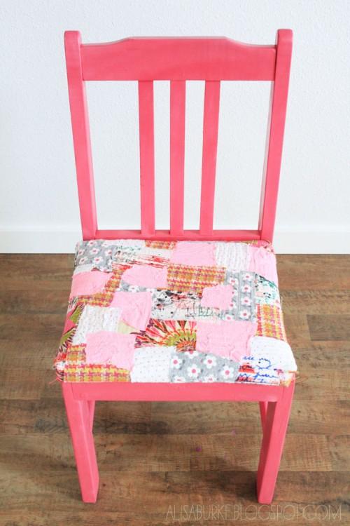 patchwork chair cover (via inspirationdiy)