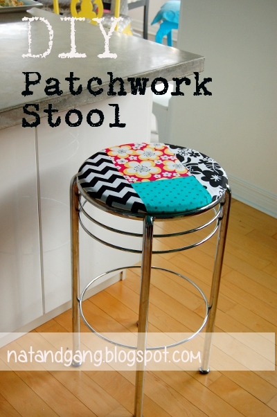 cheerful patchwork stools